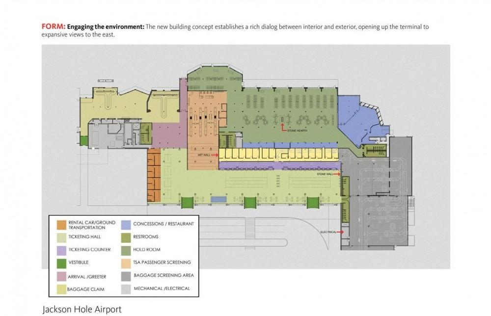 Jackson hole airport expansion project architype Airport planning and design course