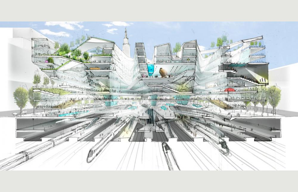 Penn Station and Madison Square Garden Proposal Project Architype – Madison Square Garden Plan