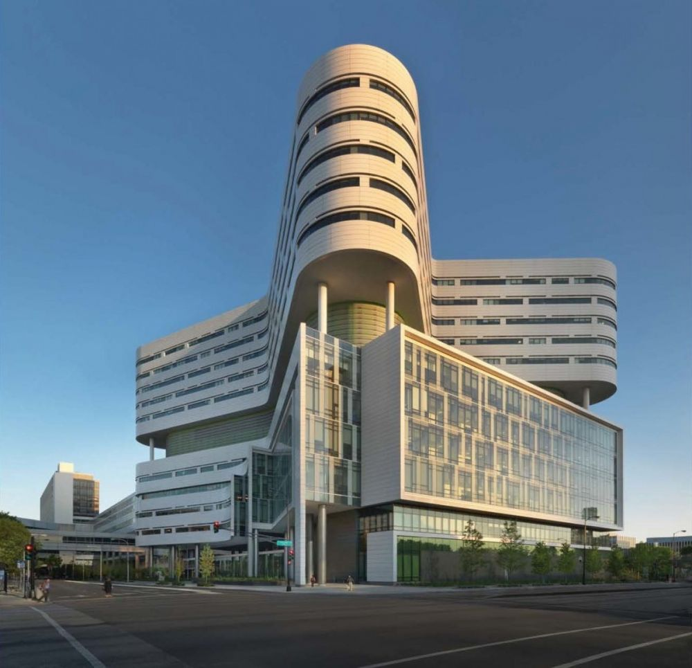 New hospital tower rush university medical center for Top architects in usa
